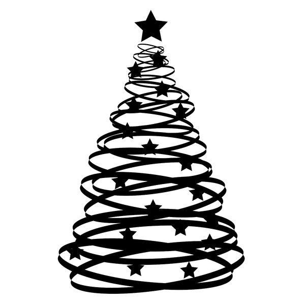 Black And White Tree Pictures Christmas Tree Sketch Christmas Tree Clipart Black And White Tree