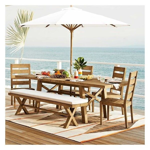 West Elm Jardine Expandable Dining Table 77 To 98 Driftwood