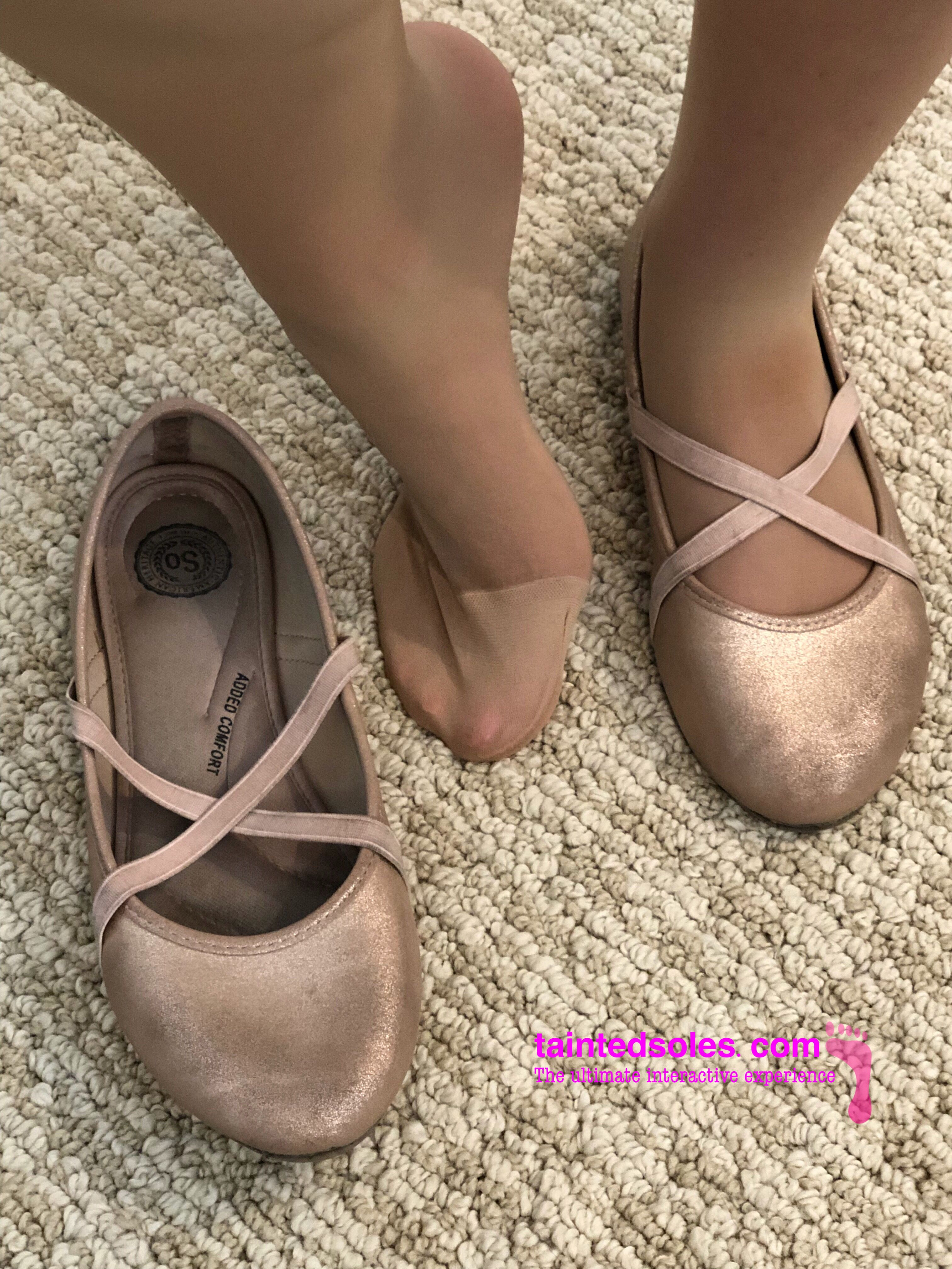 Pantyhose and pink flats abbymay1975 outlook Flat Hose 87976fb39