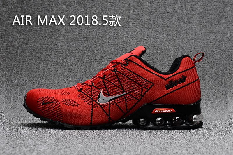 9f52029b97d4 Air Max 2018 Flyknit Men Red Black Nike Flyknit