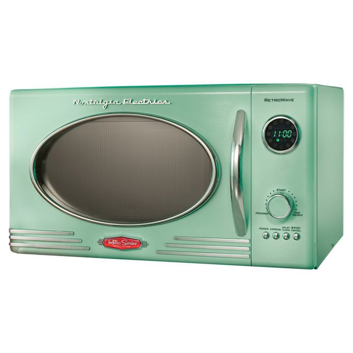 retro microwave in green i absolutely