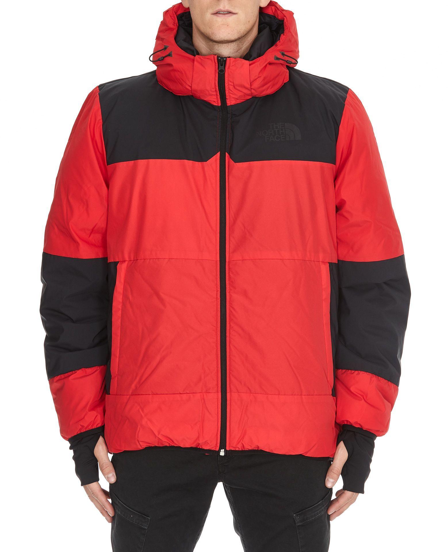 The North Face Nuptse Heavy Jacket In Black Red Modesens Heavy Jacket North Face Nuptse Jackets [ 1920 x 1558 Pixel ]