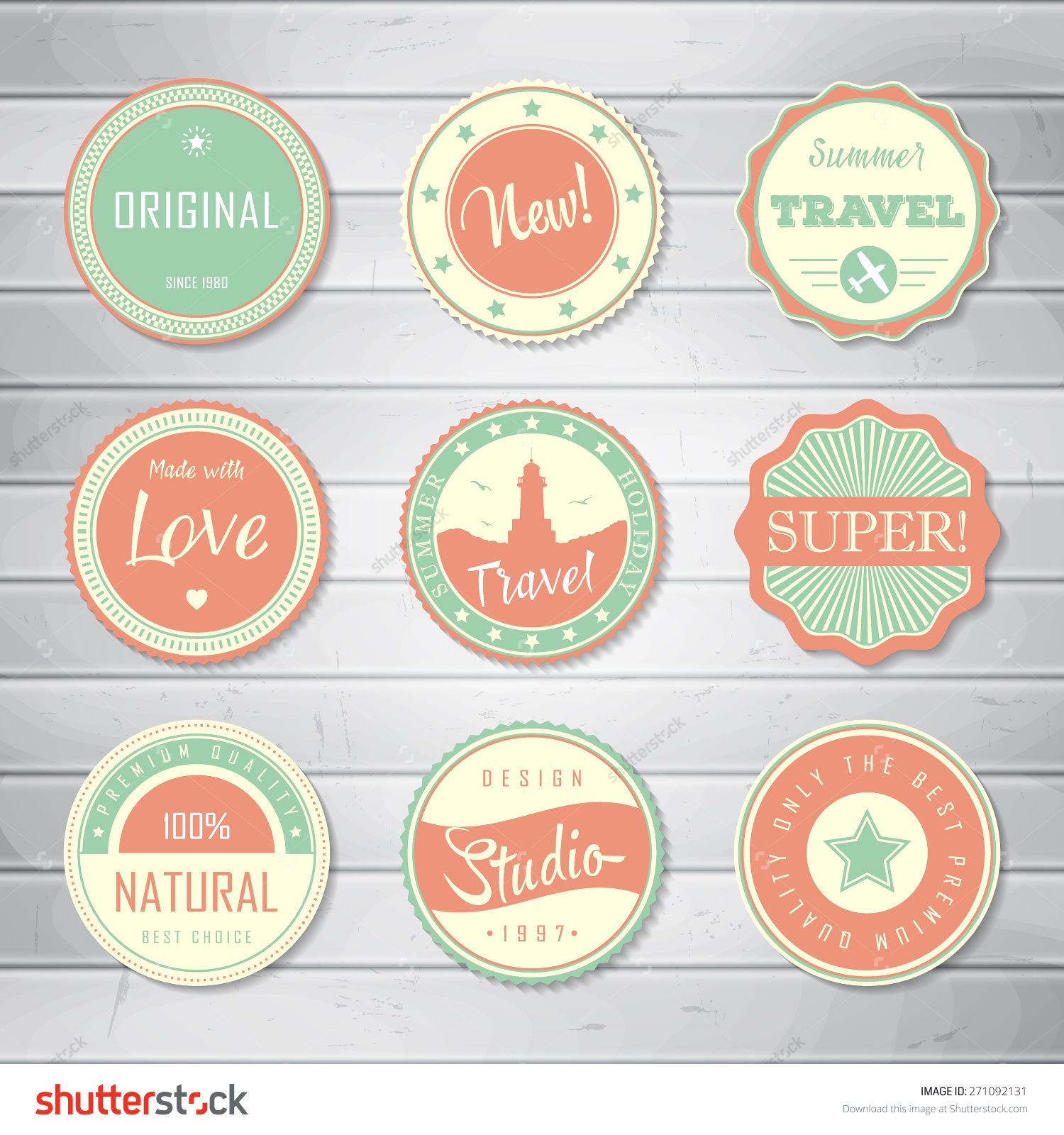 Vintage Labels Template Set Super Original New Best Choice