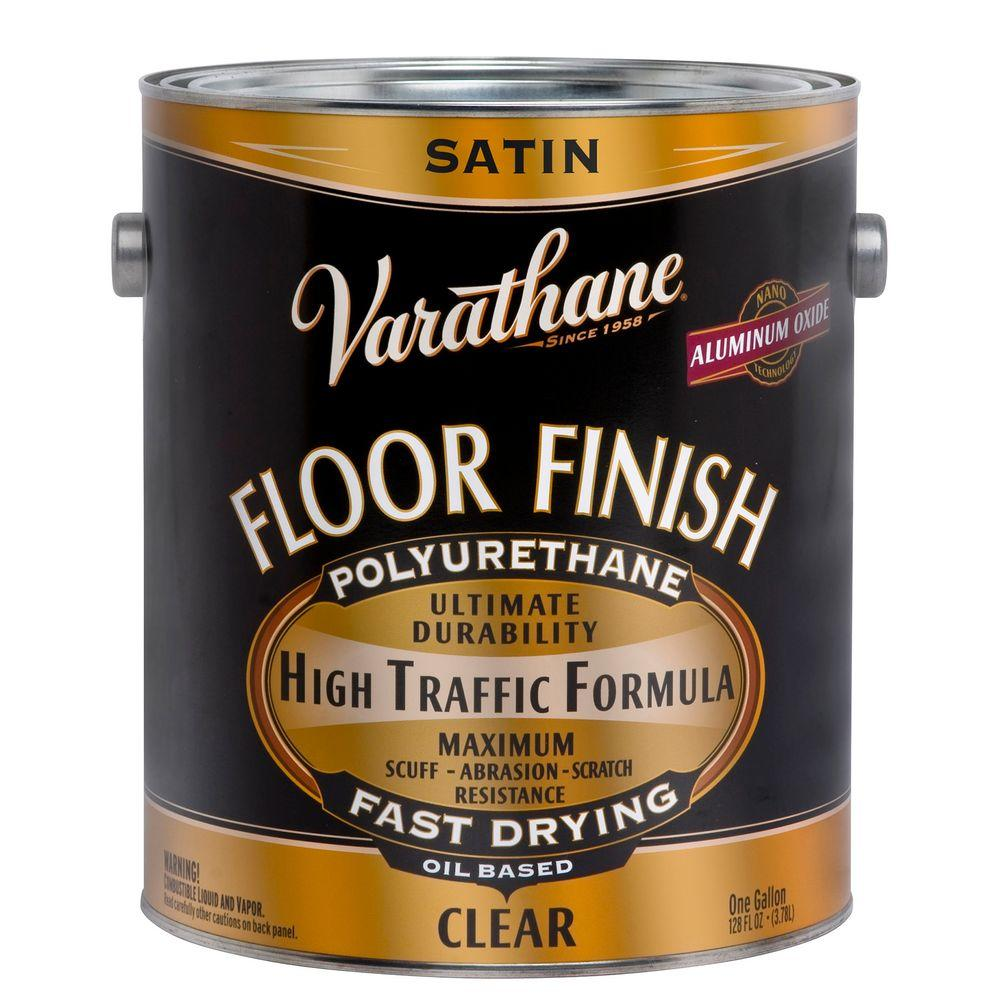 Varathane 1 Gal Clear Satin 275 Voc Oil Based Floor Finish Polyurethane 2 Pack 242608 Floor Finishes Wood Floor Finishes Polyurethane Floors