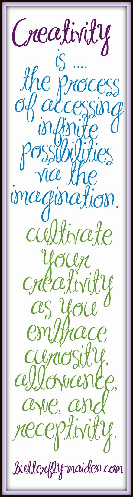 Creativity  - What does creativity mean to you? Creatività - Cosa significa per voi essere creativi?