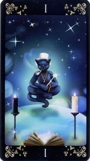Tin tức Lá I. The Magician - Black Cats Tarot bài tarot Xem thêm tại http://tarot.vn/la-i-the-magician-black-cats-tarot/
