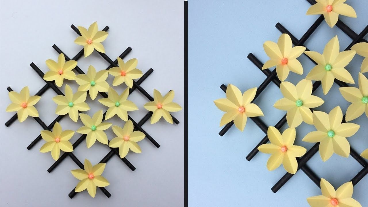 How To Make Wall Hanging Paper Flower Wall Hanging Decorations