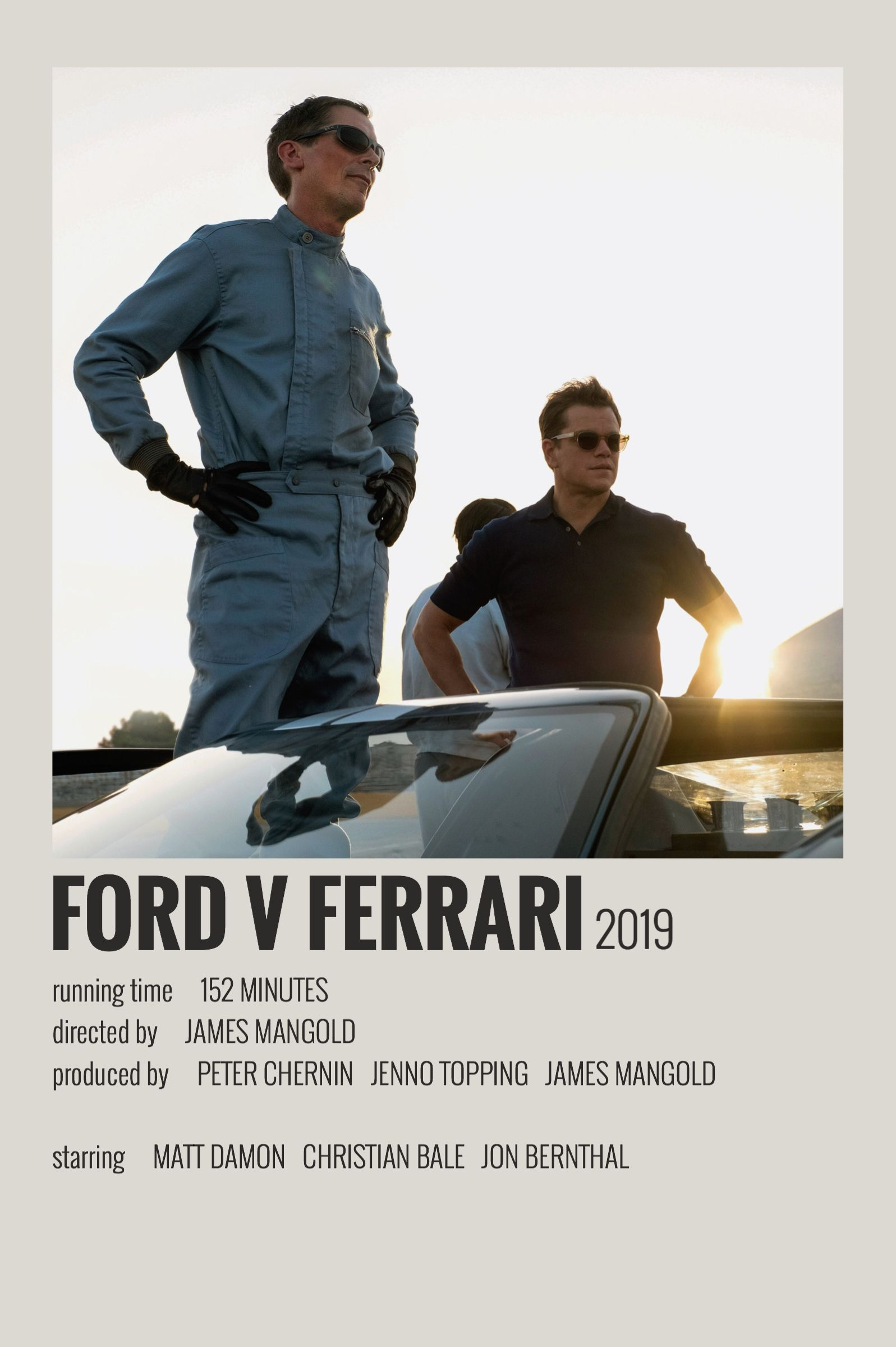 Ford V Ferrari Polaroid Poster Movie Posters Minimalist Movie Poster Wall Film Posters Minimalist
