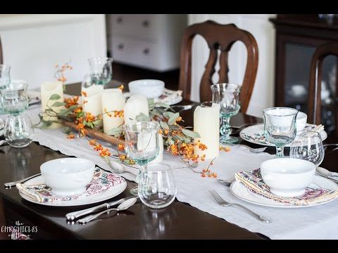 The Easiest Fall Table Setting (with Video!) - The Chronicles of Home & The Easiest Fall Table Setting (with Video!) - The Chronicles of ...