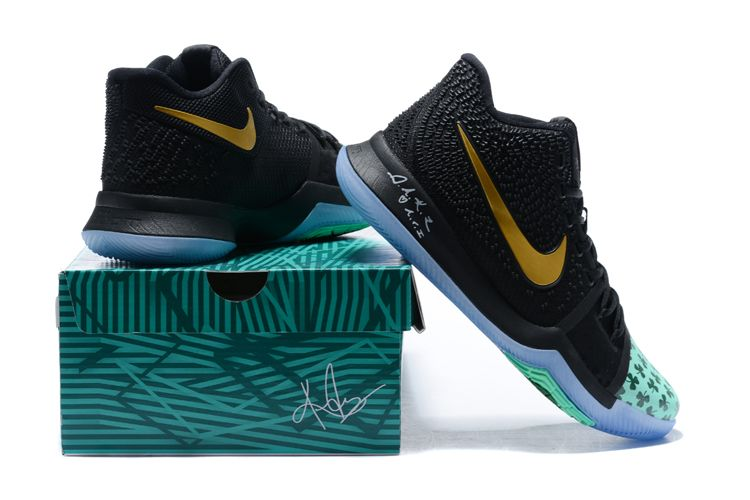 fca370e5e166 Newest Kyrie Irving s Shamrock Nike Kyrie 3 PE Basketball Shoes ...