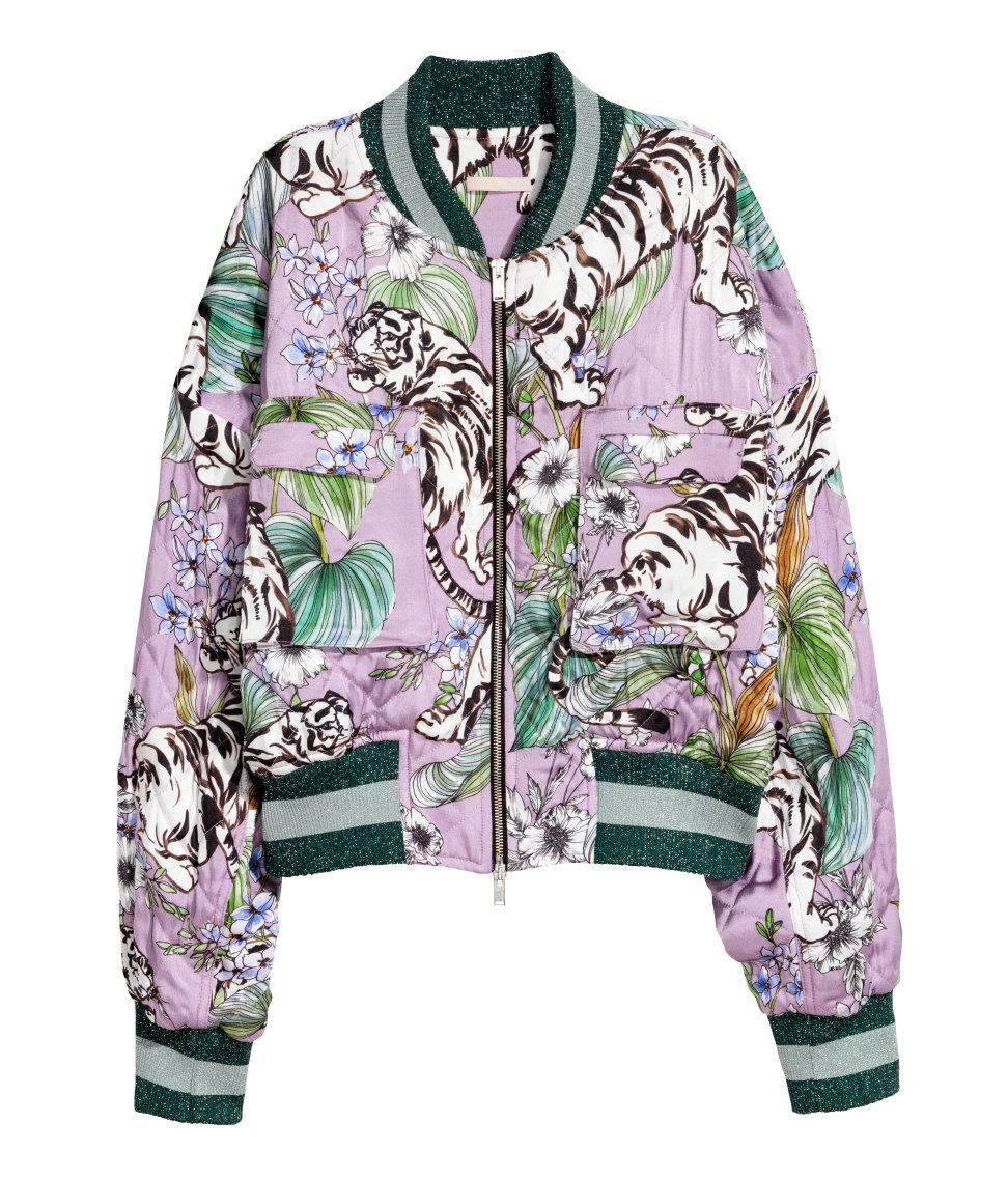 Printed Bomber Jacket | H&M Pastels