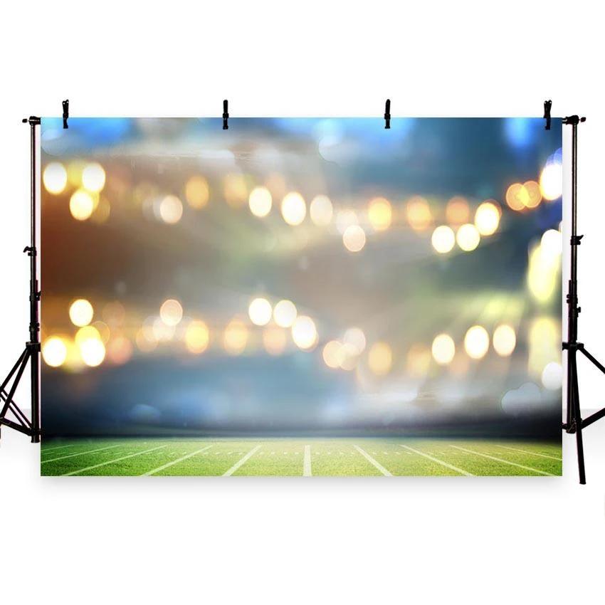 Football Field Sports Stadium Bokeh Lights Photography Backdrop G 258 Photography Backdrop Photo Backgrounds Light Photography
