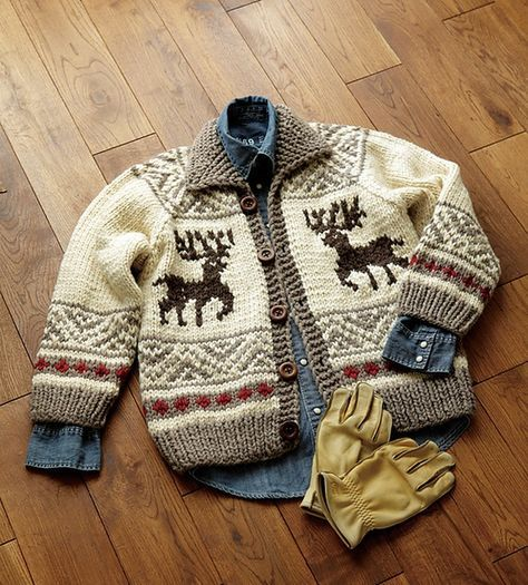 Free Pattern: Cowichan Jacket pattern by Pierrot. | áo len ...