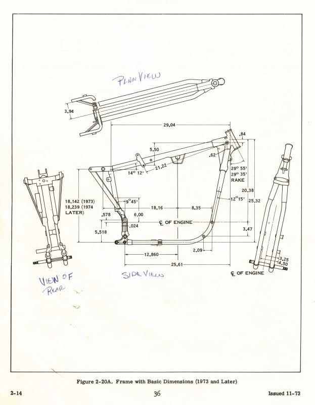 Harley Softail Frame Diagram 2003 Honda Accord Ecu Wiring Schematic Simple Wirings Swingarm Mounted Sportster Engine Dimensions The