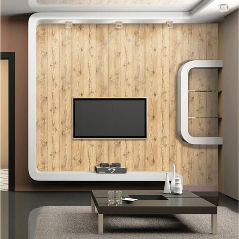 vintage brown wood panel pattern contact paper peelstick wallpaper ...