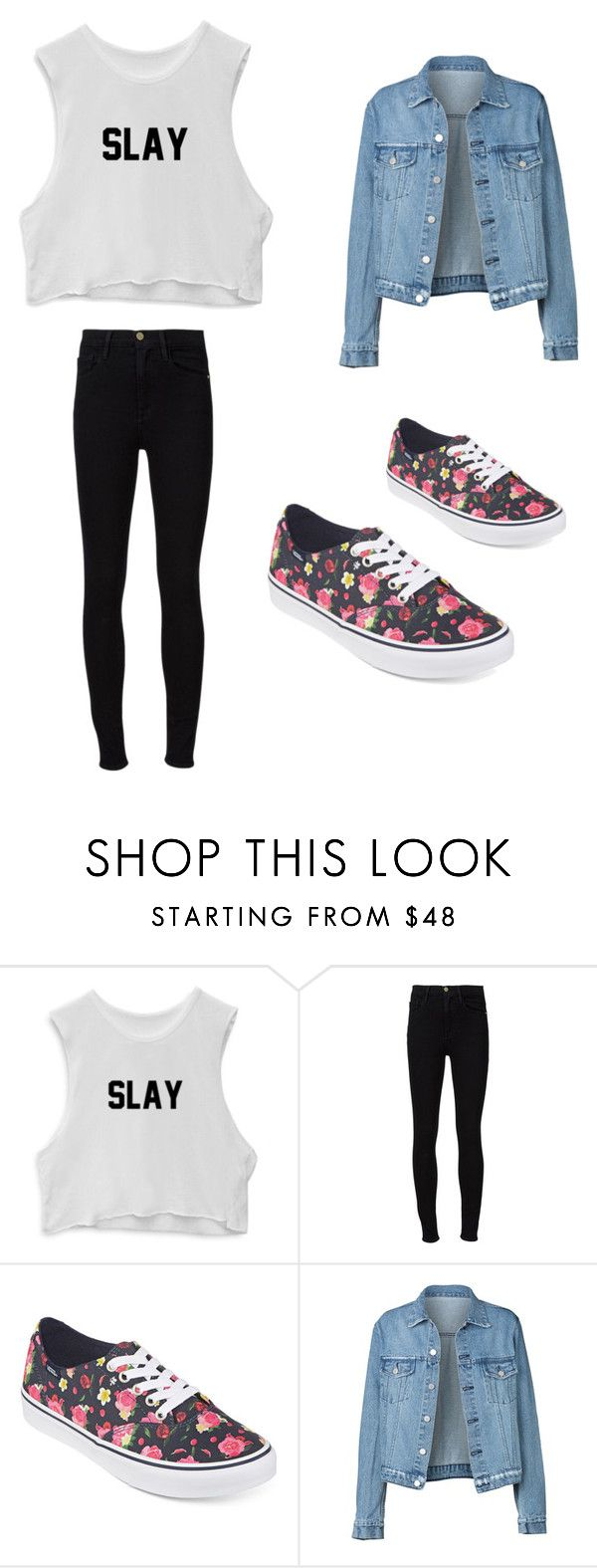 """""""Sin título #36"""" by ludmii-figeroa on Polyvore featuring Frame Denim y Vans"""