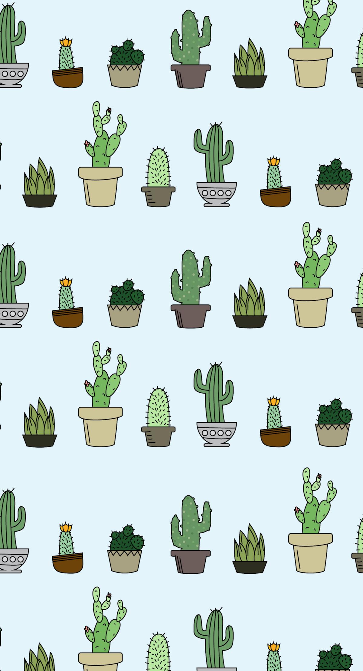 Freebie Succulent Wallpaper Greenery, Cacti and Wallpaper