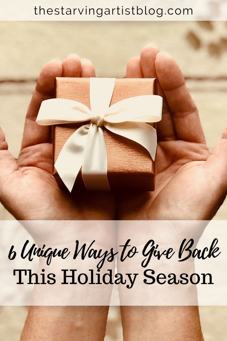 With the holidays fast approaching, we often take the time to give back to those less fortunate. Check out these 6 unique ways to give back this holiday season!  This list will help you choose which worthy causes to give donations to this Christmas!     #holidays #holiday #christmas #charity #charitable #donate #donation #giving #giveback #give #christmasgiving #christmastime #holidaygiving #blog #blogger #blogging #bloggers #bloggerlife #lifestyleblogger #blogs