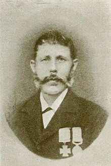 Peter Brown, VC. Basuto(Boer) Gun war,Morosi Mountain, S. Africa 1879(Aged 42). Trooper in the Cape mounted Riflemen, Cape Colonial forces. B Sweden 1837. D Cape Town 1894.