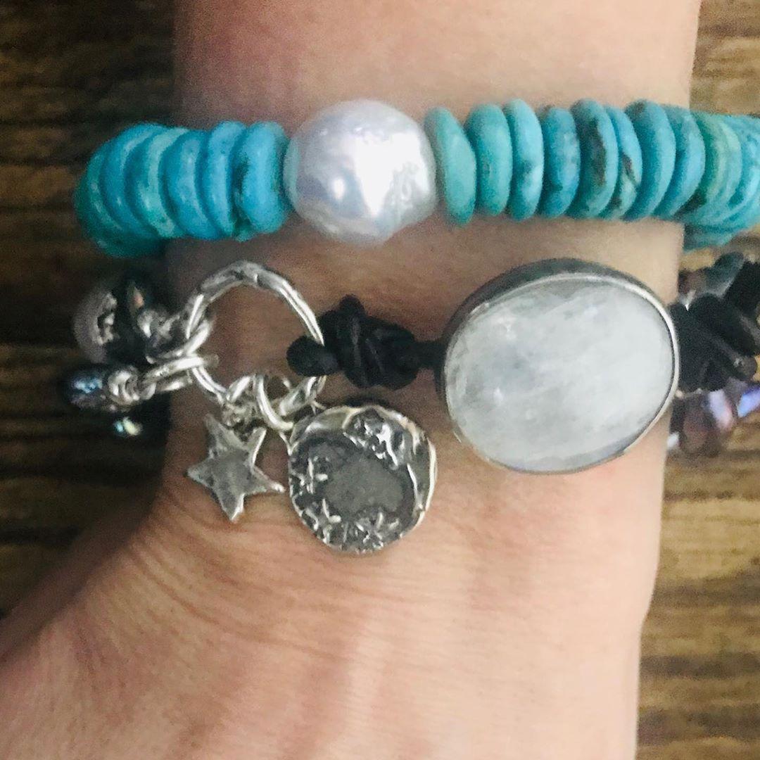 HOT HOT HOT ! NEW BRACELET ALERT! Handcrafted beaded turquoise bracelets.handcraftedbracleetbracets#moonstonevutton#Edisonpearls#handmade#customorders#artisanjewelry#bohemian#bohojewelry#bohochic#bohostyle#preciousstones#weship#leatherbracelets#hippiechic#jewelryblogger#jewelryaddict#fashionblogger#westernjewelry#rusticjewelry#healing#wellness#ohm#zen#peace#love#buddha#yoga#DM FOR DETAILS#ROXSTARJEWELS