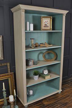 Pine Planks White Bookshelf Backing