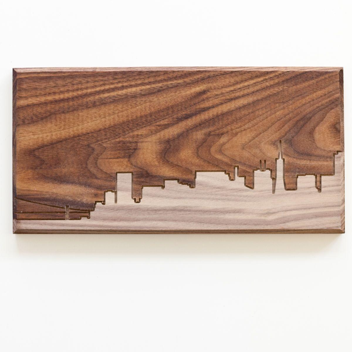 San Francisco skyline in wood