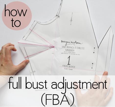 FBA (full bust adjustment) tutorial