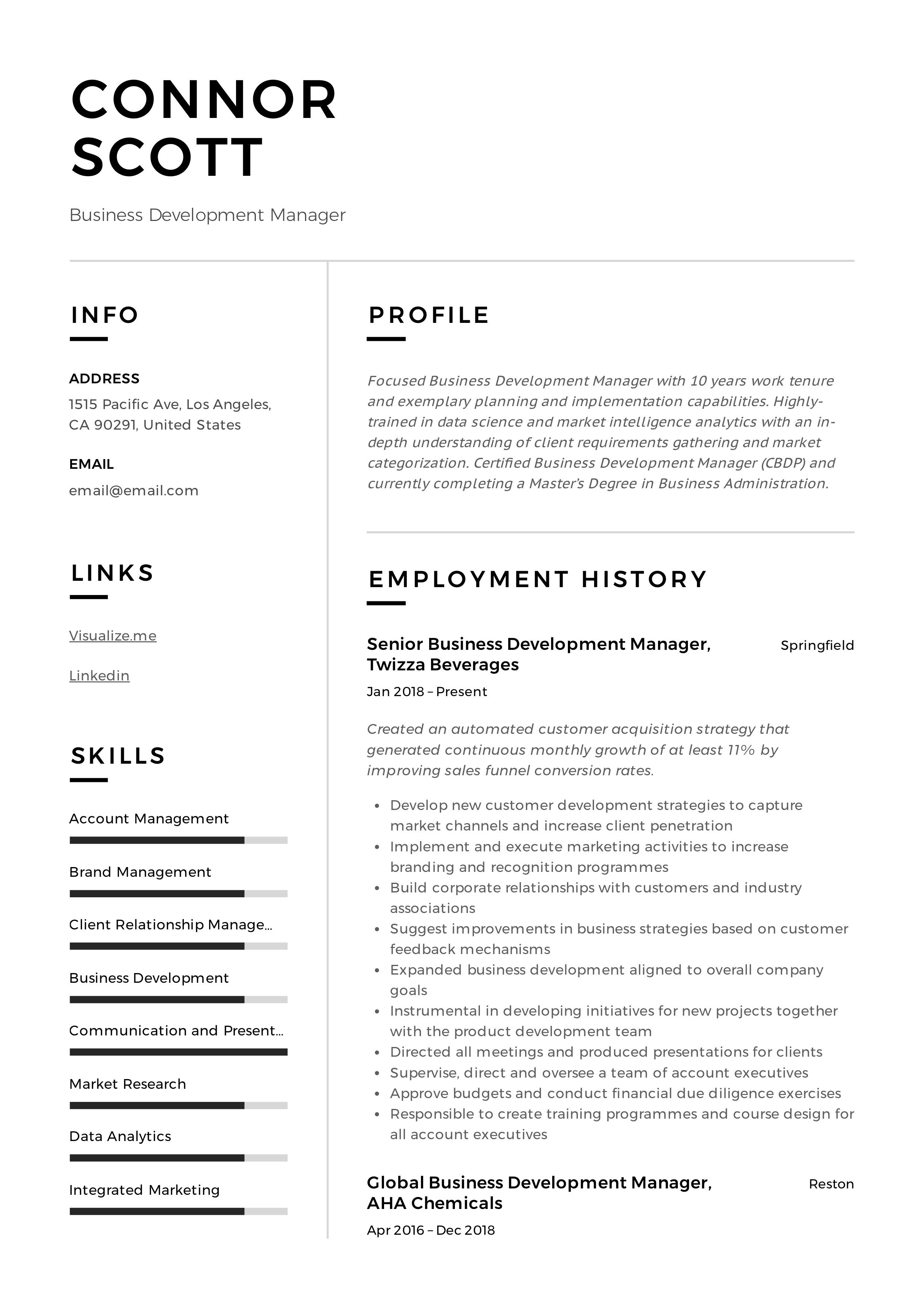 business development manager resume & guide in 2020 (with word curriculum vitae template free example of summary accomplishments general career objective for