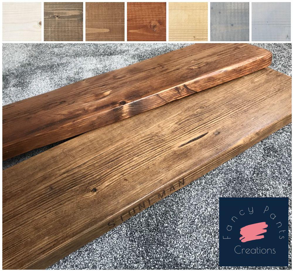 Any Colour Rustic Shelves! All Lengths Reclaimed Scaffold Board Shelf