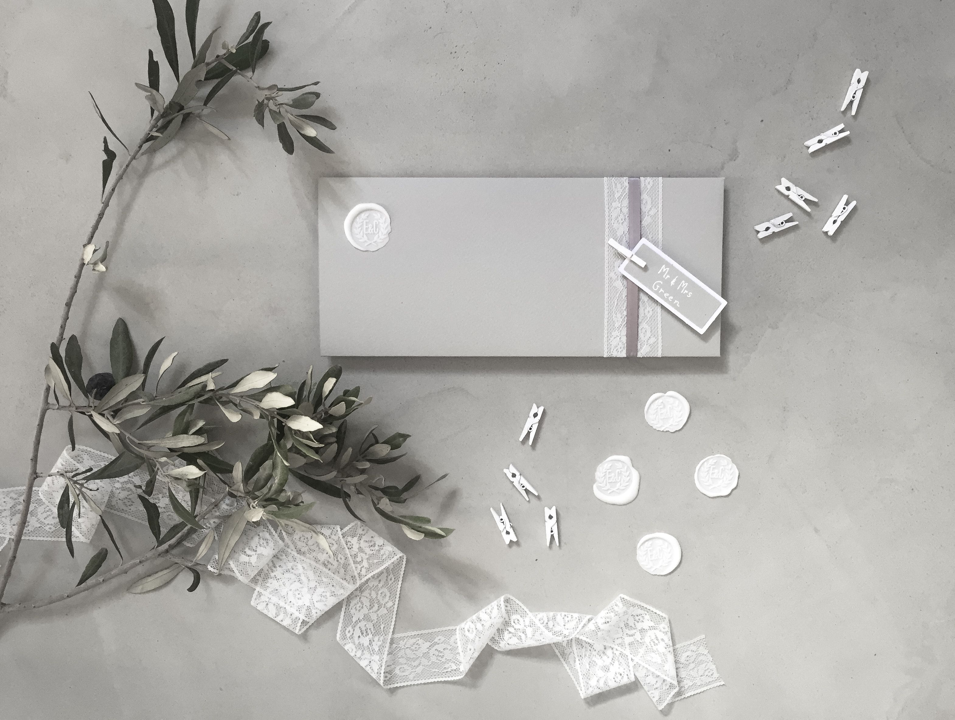 Wedding stationery, wedding details, invitations, white and grey ...