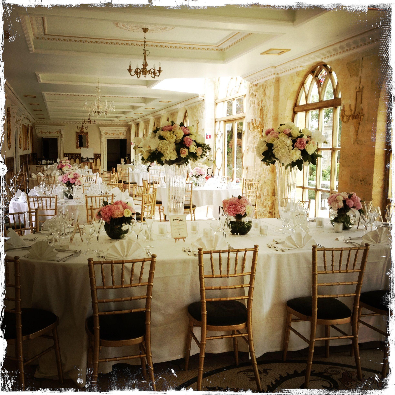 Salle De Reception Chateau De La Ligne Vase En Verre Mariage Blanc