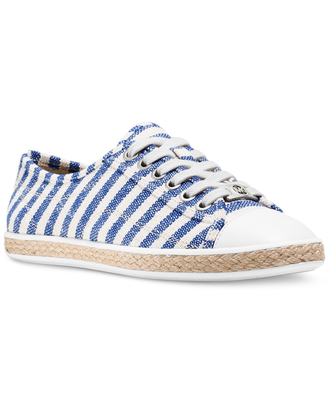 4c2875ea5e75 MICHAEL Michael Kors Kristy Lace Up Striped Espadrille Sneakers - Sneakers  - Shoes - Macy s