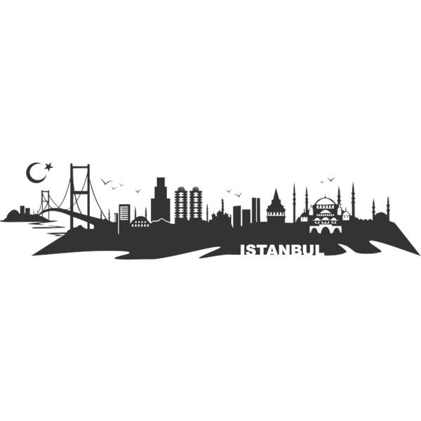 Uberlegen Wandtattoo Istanbul Skyline (u20ac29) Found On Polyvore