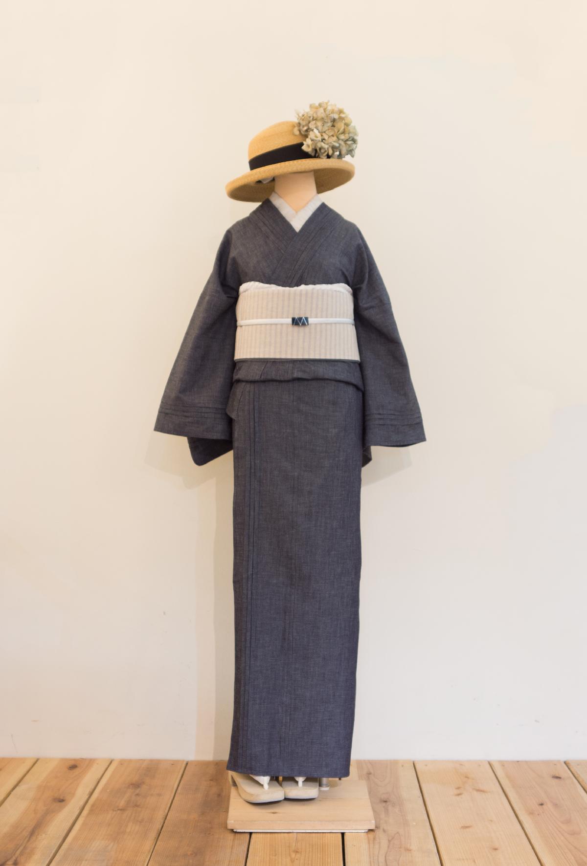 ピンタック着物(デニム) | 着物、浴衣 さく研究所