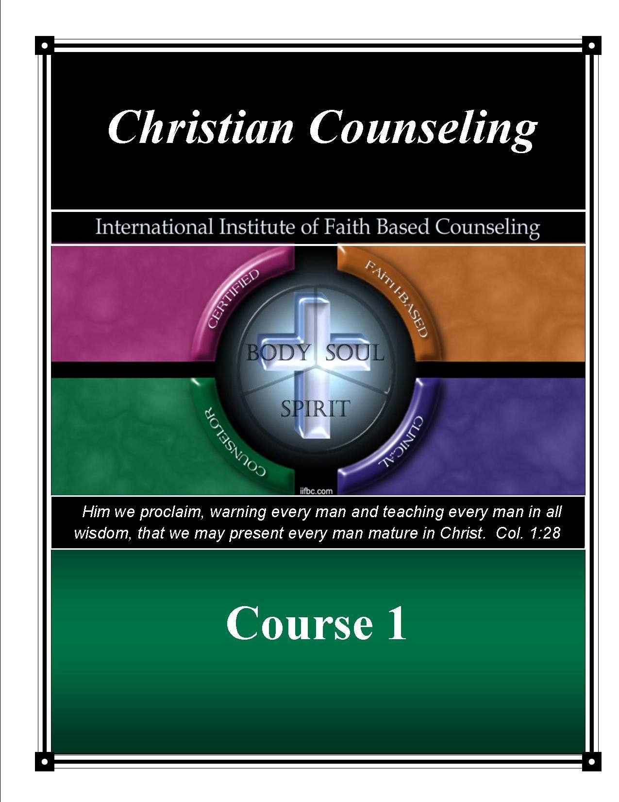 IIFBC Course 1 Christian Counseling; 99 PDF text and