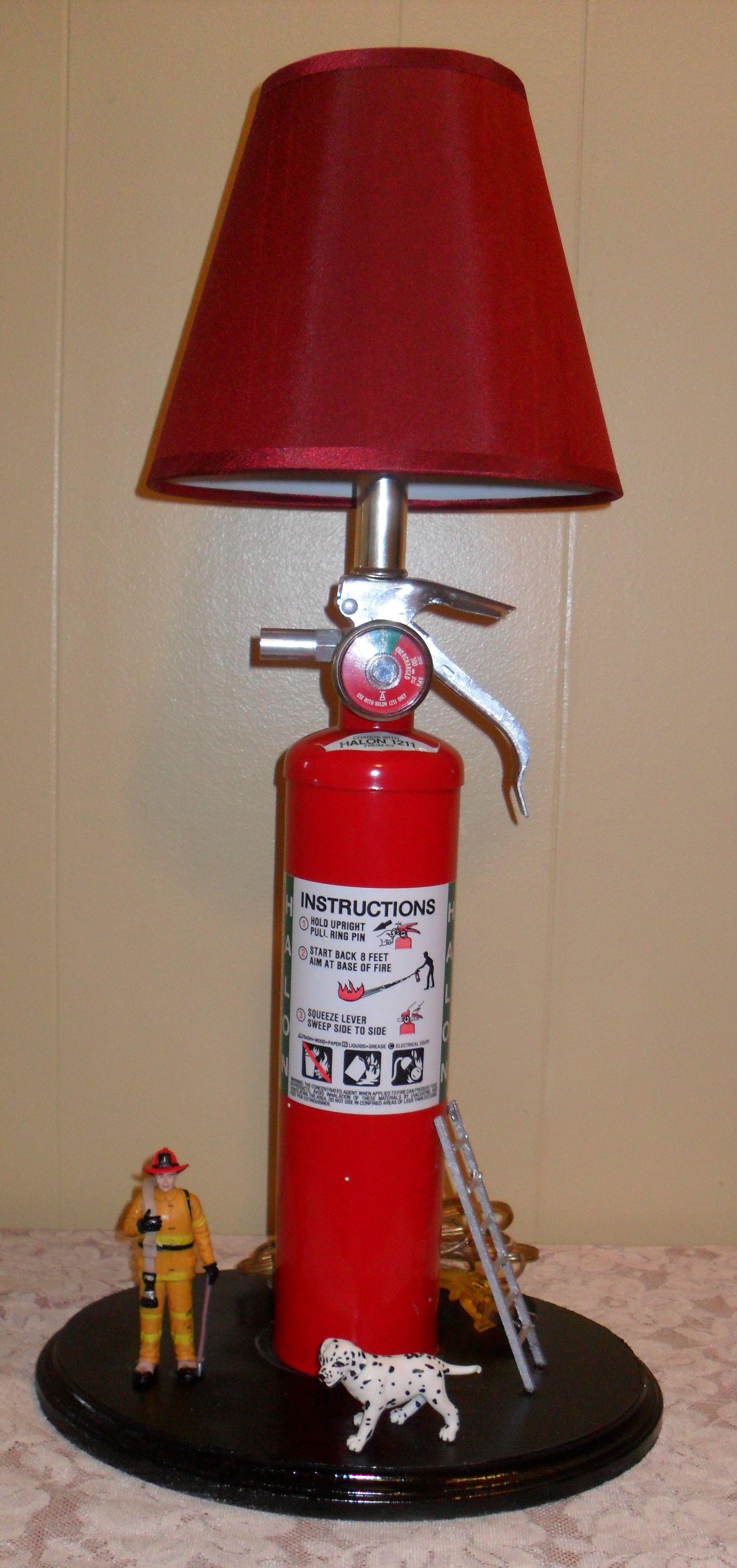 fire extinguisher lamp i made lamps feuerl scher schreibtischlampe lampen. Black Bedroom Furniture Sets. Home Design Ideas