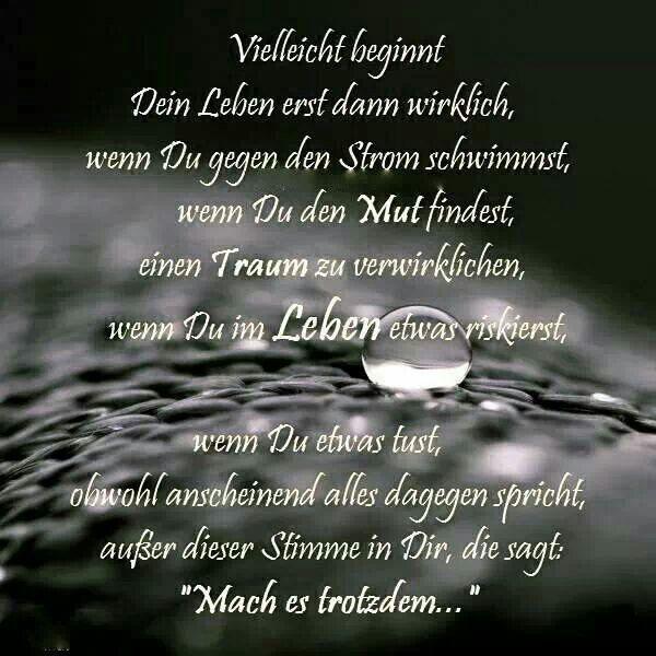 Sprüche | Sprüche und Gedichte | Words quotes, Quotes und ...