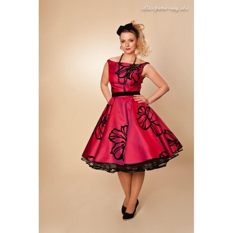 petticoat 50er mode kleider blumen petticoat. Black Bedroom Furniture Sets. Home Design Ideas