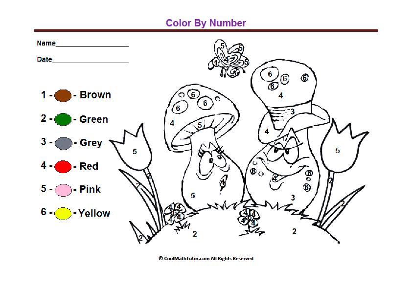 Color By Numbers Printable Worksheet