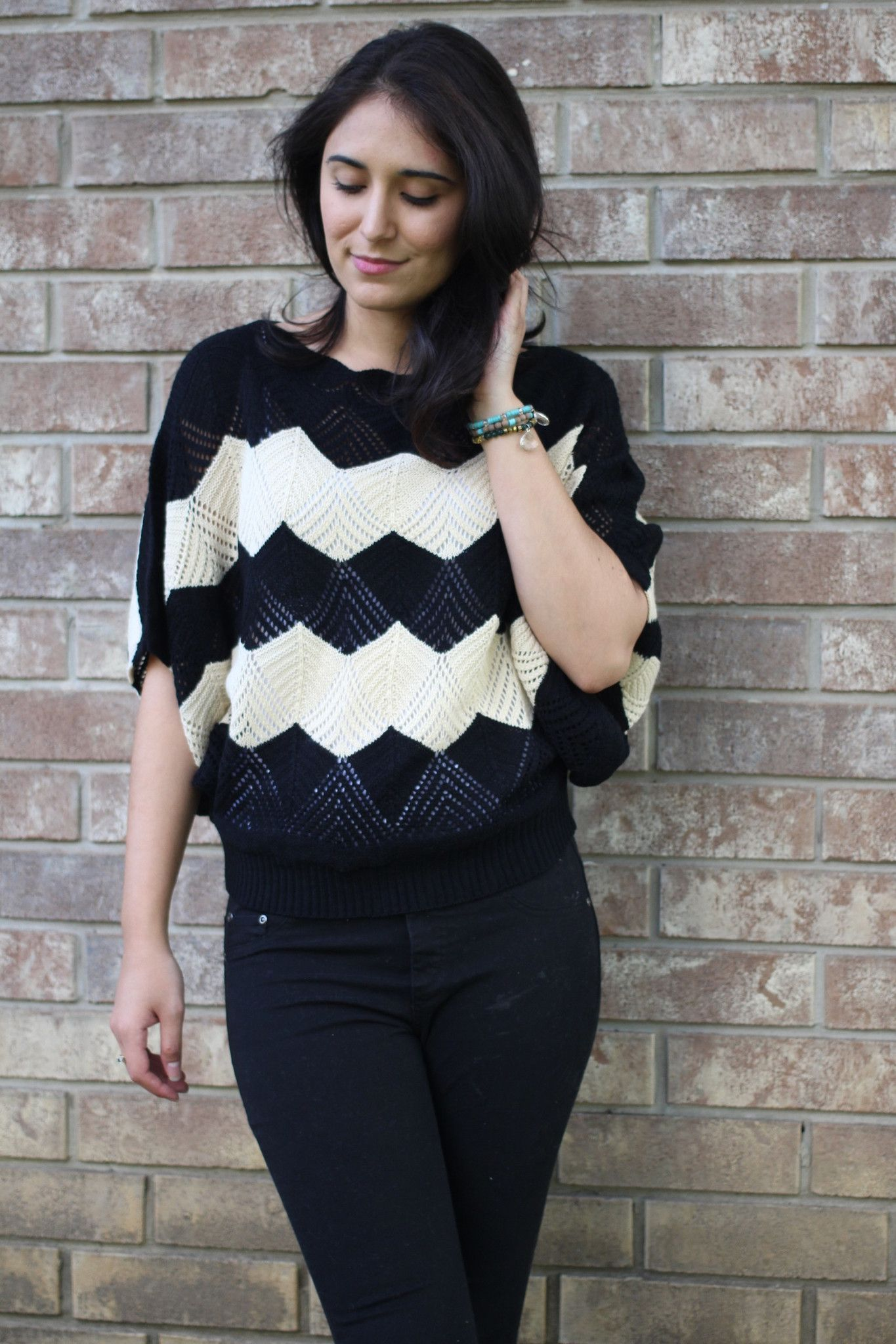 Chevron bat sweater