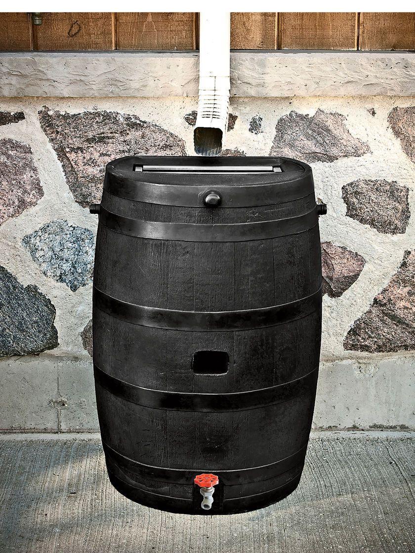 Eco Rain Flat Back Barrel 50 Gallon Gardener S Supply Rain