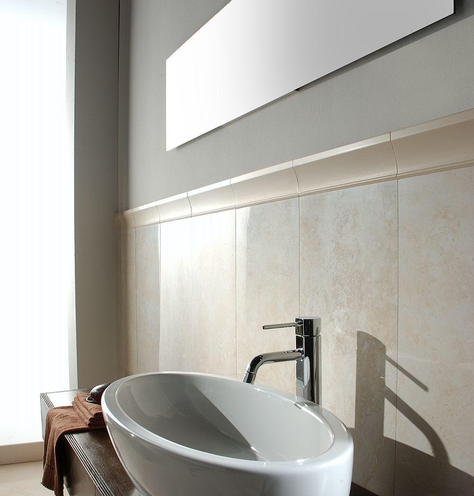 Travertine Cream 45x90 luc. | Porcellanatos símil mármol | Pinterest ...
