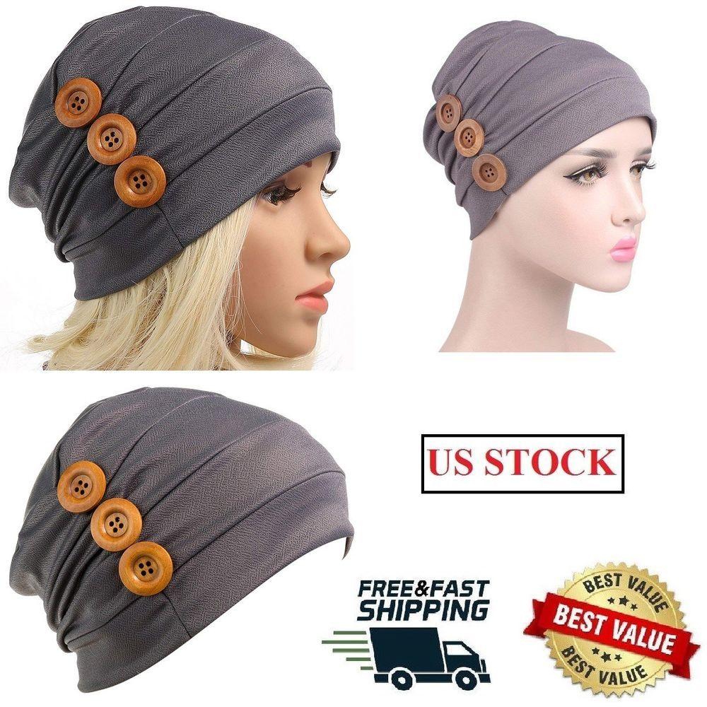 c5994c24c7618 Slouchy Chemo Turban Cancer Headband Button Ruffle Beanie Cap Muslim Scarf  NEW  fashion  clothing  shoes  accessories  womensaccessories  hats (ebay  link)