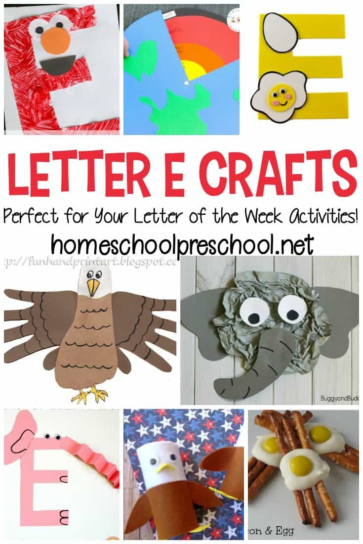 Looking for a some crafts to teach letter E for your preschooler? Don't
