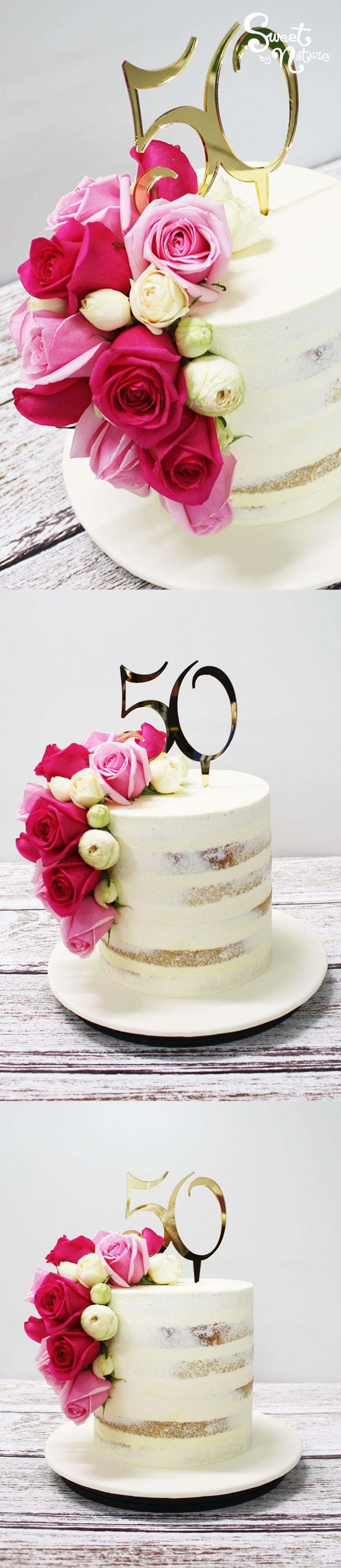 A perfect milestone birthday cake: Semi naked 50th birthday cake ...