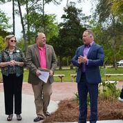 Mayor Kennon speaking at the #CoastalArtCenter's Grand Re-Opening! #RibbonCuttings in #OrangeBeach
