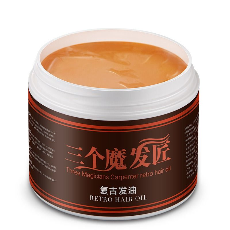 Hair Wax Skeleton Cream Slicked Oil Keep Hair Strong Style Restoring Pomade Men Styling Products Hair Wax Hair Pomade Retro Hairstyles