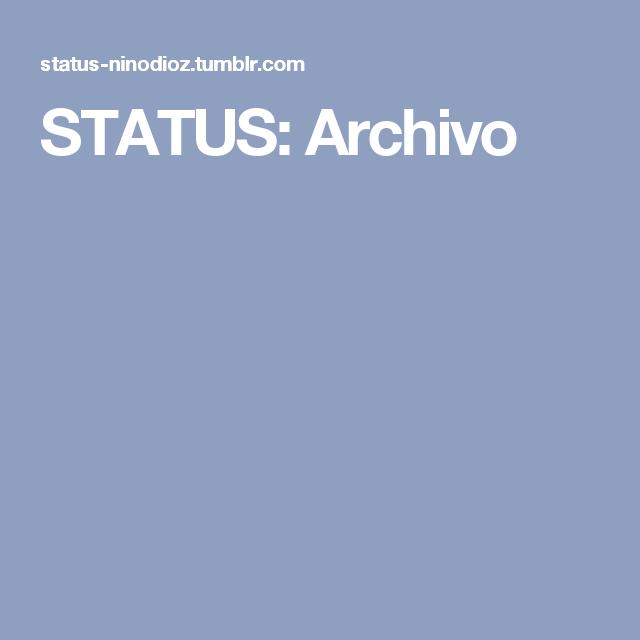 STATUS: Archivo
