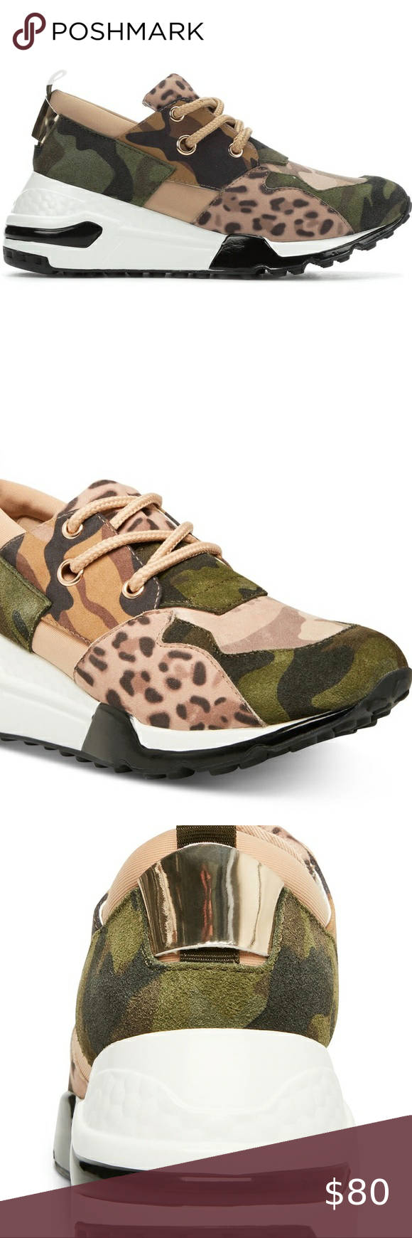 Steve Madden Camo Sneakers size 5 1/2