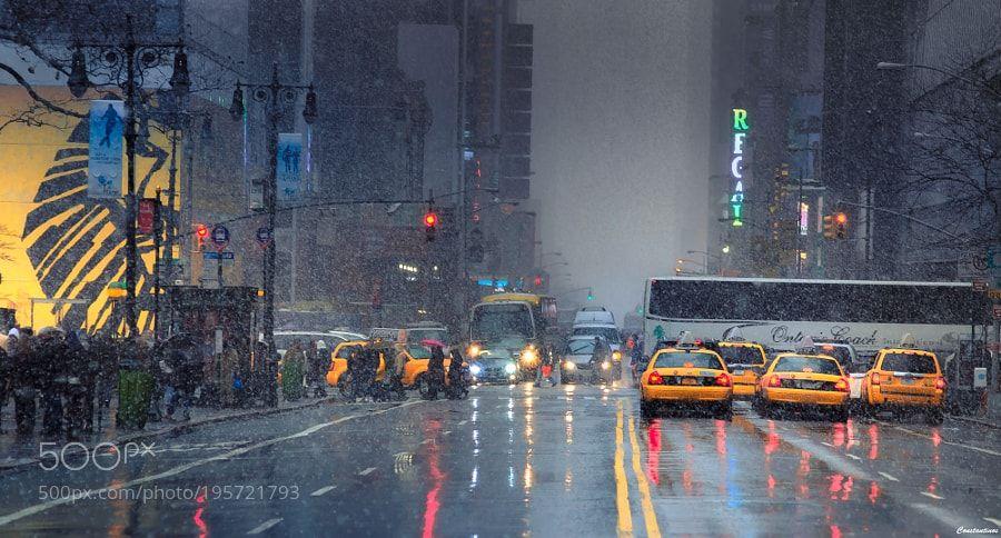 SNOW MOOD @ NEW YORK ! by konstantinos-metallinos